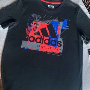 Adidas Boy's Long Graphics T-shirt NWT! SzL(14-16)